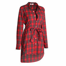 HERLOVA Plaid Tunic Shirt Dress