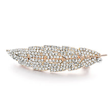 DALAFUL Crystal Feather Hair Barrette