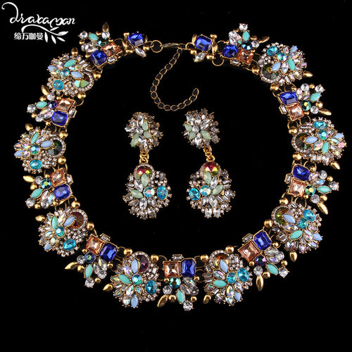 DVACAMAN Luxury Necklace & Earring Set