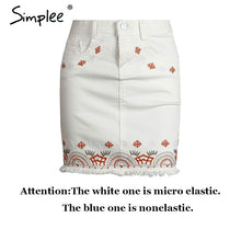 SIMPLEE Nordic Embroidered Casual Skirt