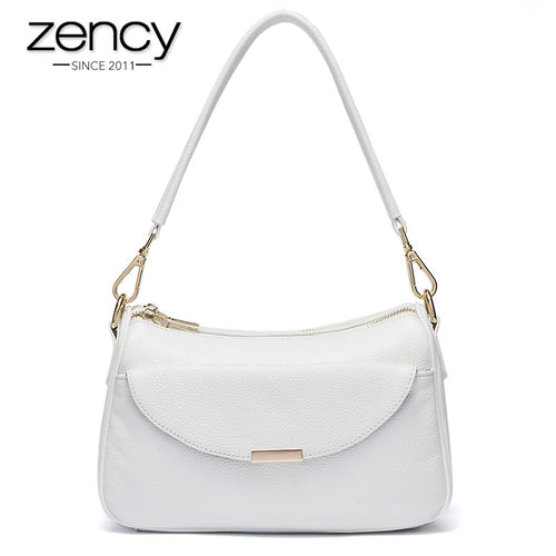 ZENCY Genuine Leather Shoulder Bag