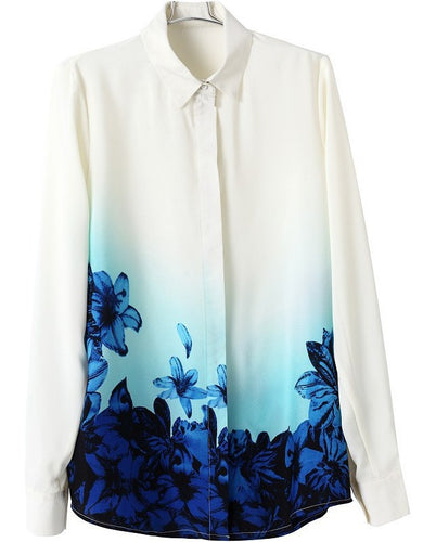 SINGWING Floral Long Sleeve Blouse
