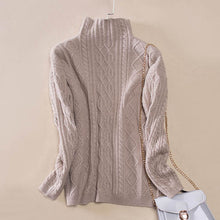 FINCATI Cable Knit Cashmere Turtleneck