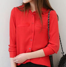 EYM Long Sleeve Chiffon Blouse