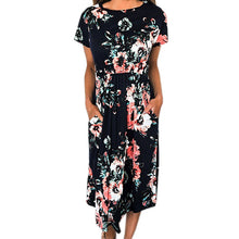 SMILEFISH Floral Print Casual Dress