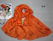 DANKEYISI Solid Color Silk Scarf