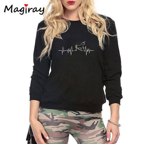 MAGIRAY Unicorn Print Sweatshirt