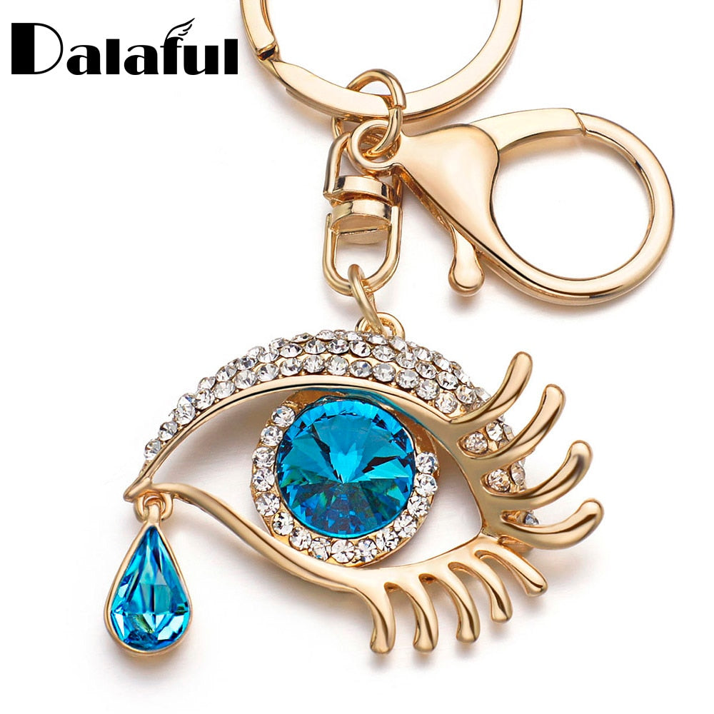 DALAFUL Tear Drop Purse Charm Key Chain