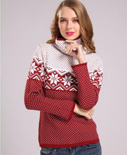 SPARSIL Nordic Snowflake Turtleneck Sweater