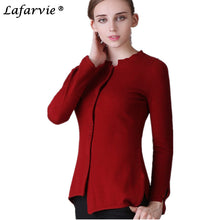LAFARVIE Cashmere Blend Asymmetric Hem Sweater