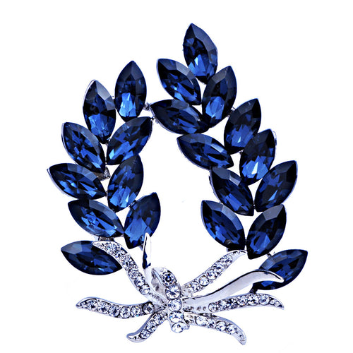 FARLENA Crystal Leaf Fashion Brooch