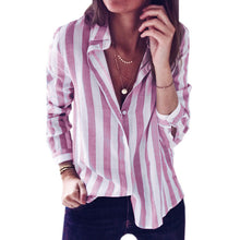 SMILEFISH Striped Casual Shirt