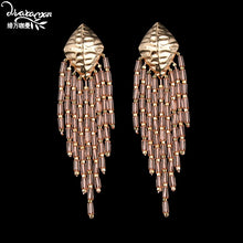 DVACAMAN Beaded Tassel Earrings
