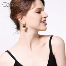 COMIYA Glass Pearl Drop Earrings