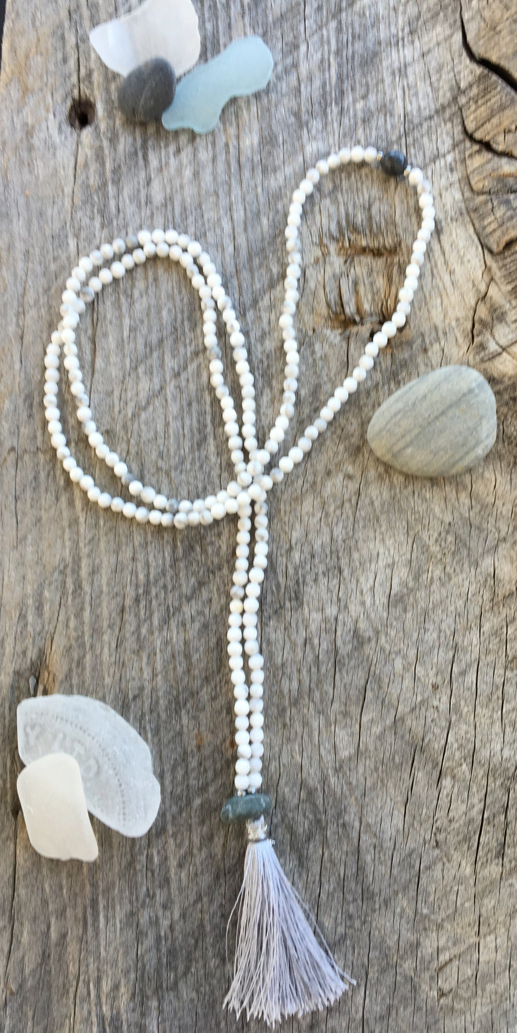 Faceted Howlite Mini Mala