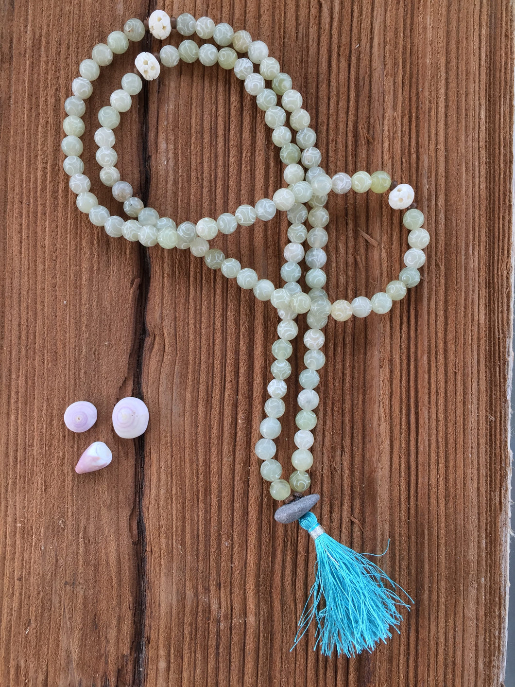 Etched Agate Mala