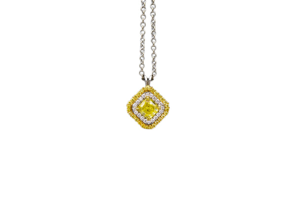 Fancy Intense Yellow Diamond Necklace