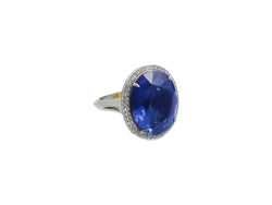 16.93ct Ceylon Sapphire and Diamond Ring