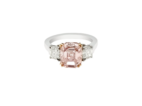 2.61ct Light Brown-Pink VS1 Diamond Ring