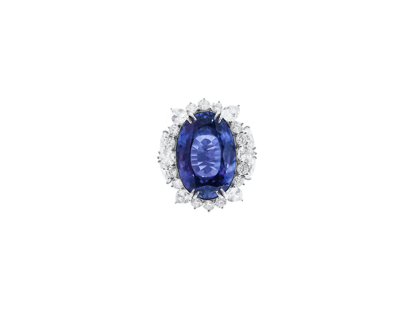 26.19 Carat Ceylon Sapphire and Diamond Ring