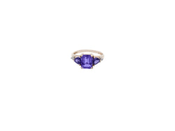 Three Stone Amethyst Ring