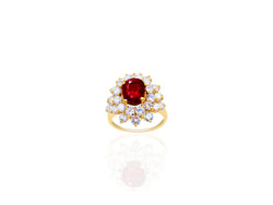 3.01ct Thai Ruby and Diamond Ring