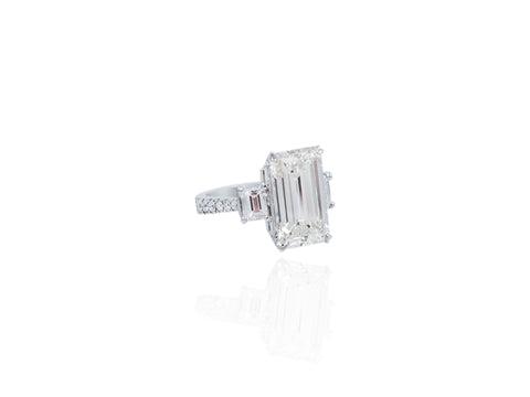 4.40ct Emerald Cut Diamond Engagement Ring
