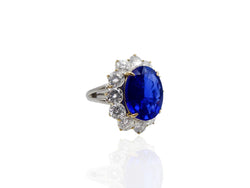 7.88 Carat Sapphire and Diamond Ring