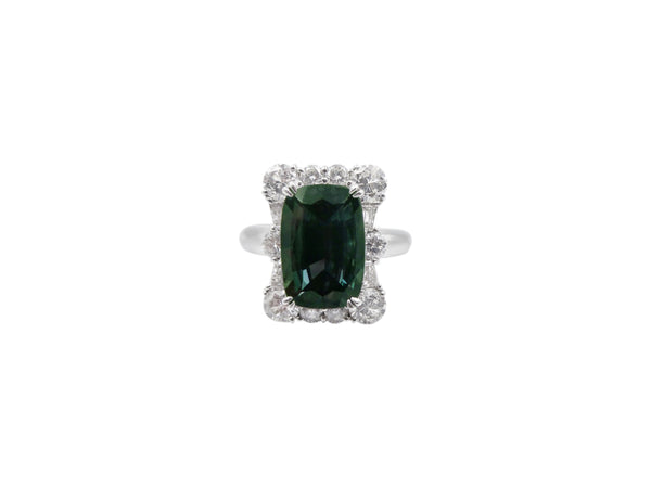 Brazilian Alexandrite and Diamond Ring