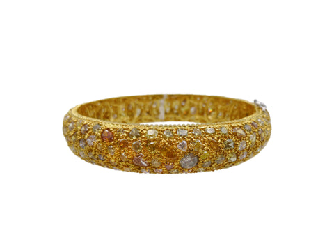 Multicolored Diamond Bangle Bracelet