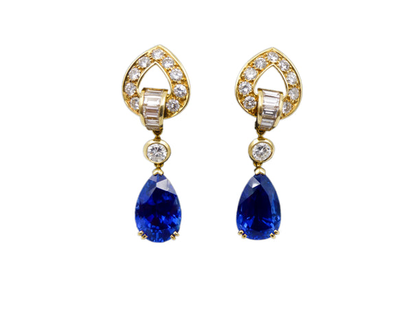 Boucheron Sapphire and Diamond Earrings