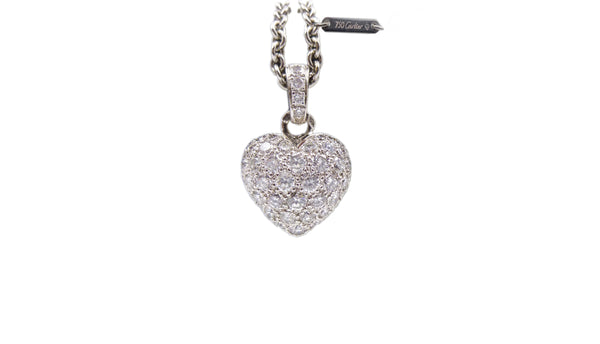 Cartier Diamond Heart Pendant Necklace