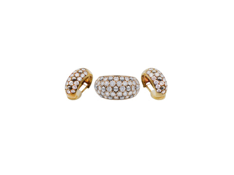 Cartier Diamond Ring and Earring Set