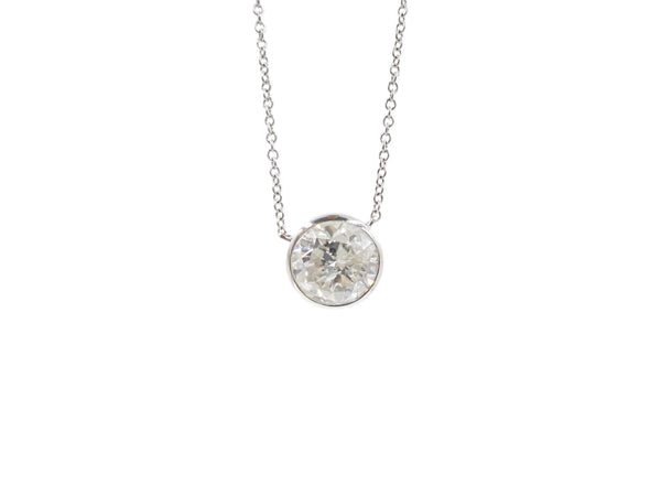 5.02 Carat Round Diamond Pendant Necklace