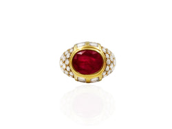 French Ruby and Diamond Ring