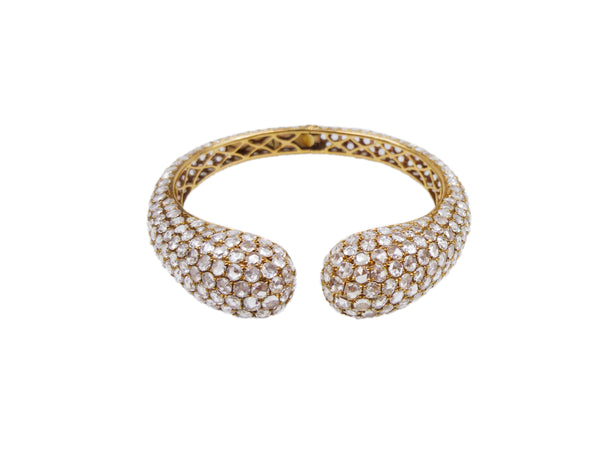 Rose Gold and Diamond Bangle Bracelet