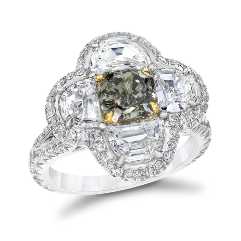 1.38ct Fancy Gray Diamond Ring