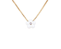 Van Cleef and Arpels Enamel Flower Pendant Necklace