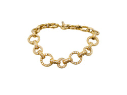 Aaron Basha Gold and Diamond Bracelet
