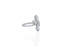 Cross Shaped Diamond Ring