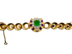 French Gold and Emerald Bracelet