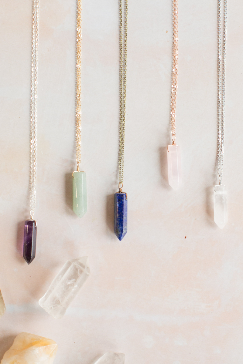 Custom Crystal Point Necklace