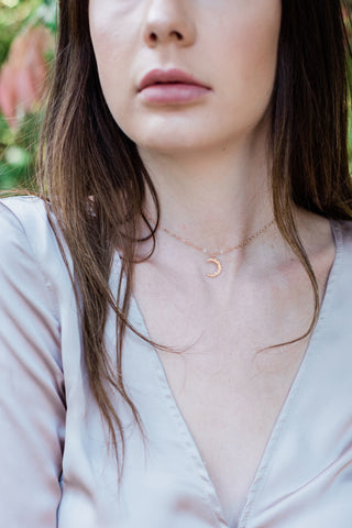 Crystal Quartz Bead Drop Choker