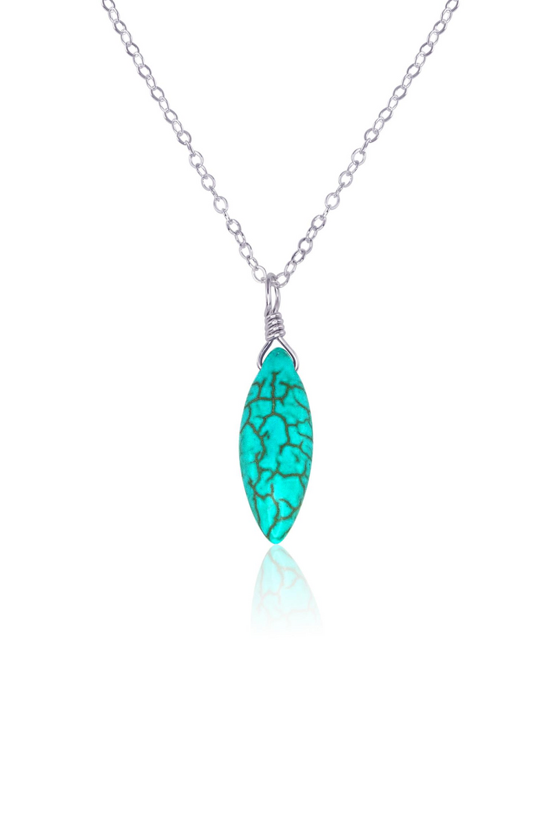 Turquoise Howlite Marquise Necklace