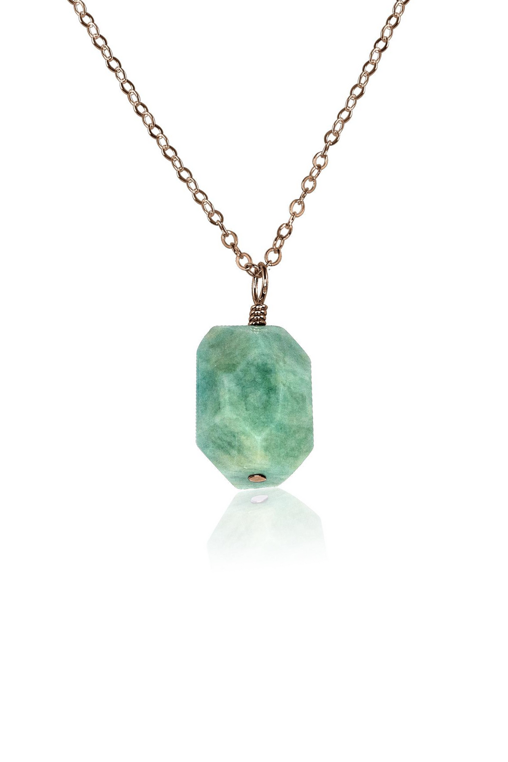 Amazonite Nugget Pendant Necklace