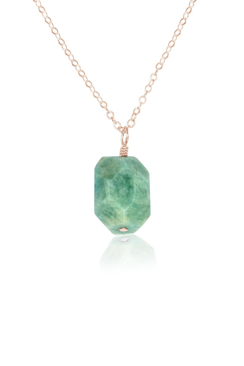 Amazonite Nugget Pendant Necklace - Luna Tide Handmade Jewellery