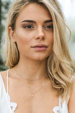 Dainty Iolite Gemstone Choker Necklace