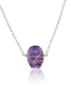 Simple Amethyst Stone Necklace