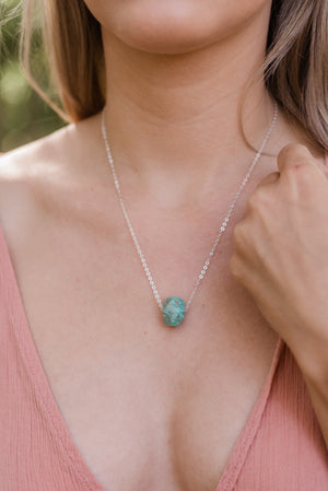 Simple Amazonite Stone Necklace - Luna Tide