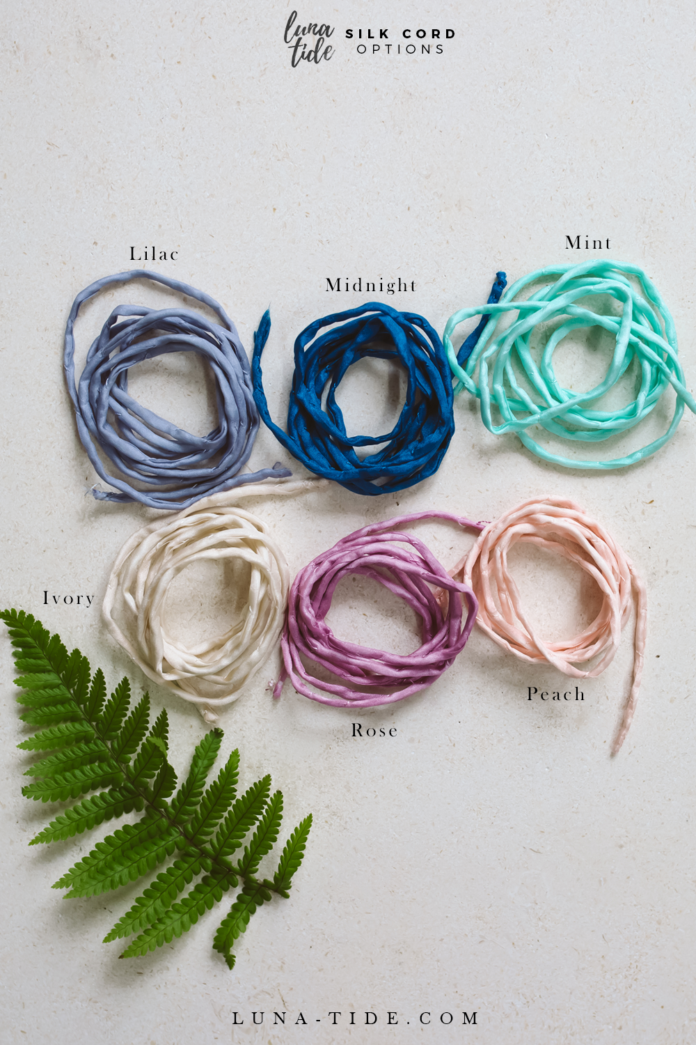 Rainbow Moonstone Silk Wrap Bracelet - Luna Tide
